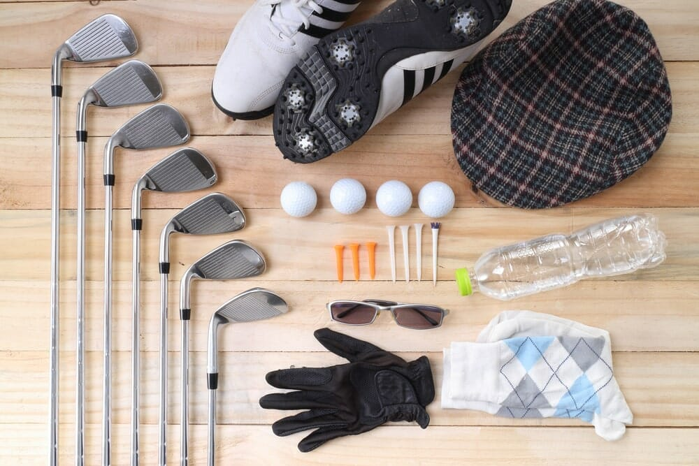 different kinds of golf equipment