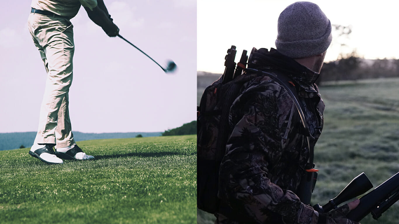 difference between golf and hunting rangefinders