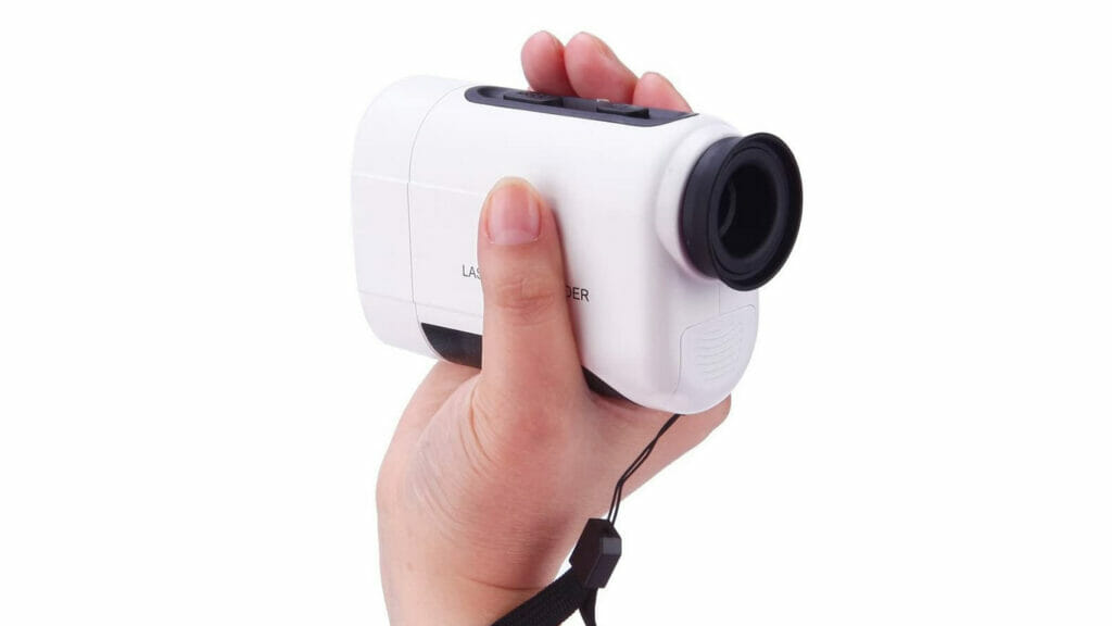 how to hold a golf rangefinder steady when aiming