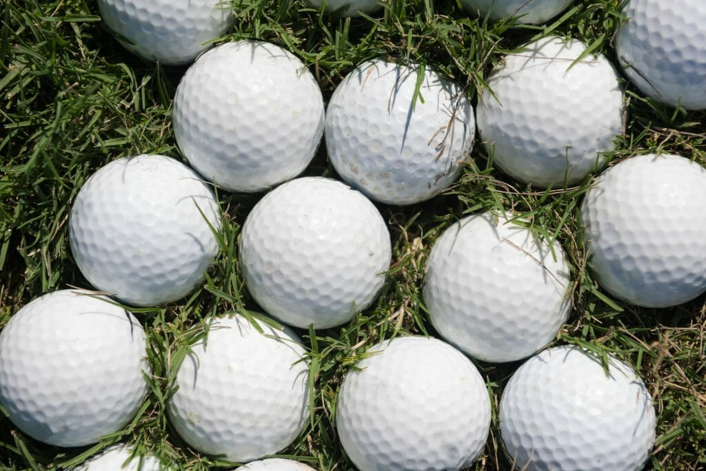 What are the different types of golf balls